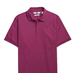 New with Tags Mens Apt 9 berry short sleeve polo